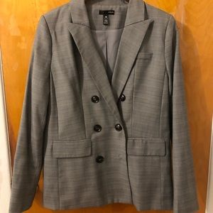Aqua Bloomingdales grey blazer size medium